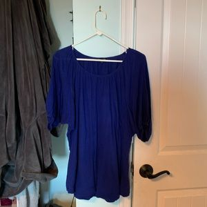 Express Flowy Blue Top, size Large